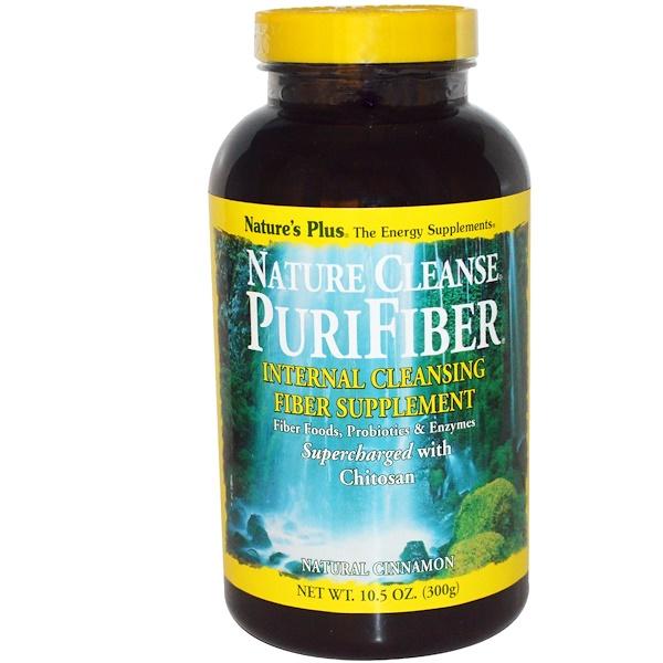 Nature's Plus, Nature Cleanse PuriFiber, Natural Cinnamon, 10.5 oz (300 g) (Discontinued Item)