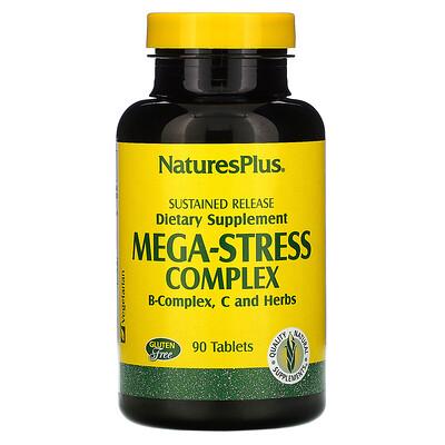 Купить Nature's Plus Mega-Stress Complex (Мегакомплекс «Антистресс»), 90 таблеток