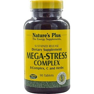 Nature's Plus, Mega-Stress Complex, 90 Tablets