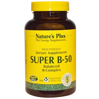 Nature's Plus, Super B-50, 180 Veggie Caps