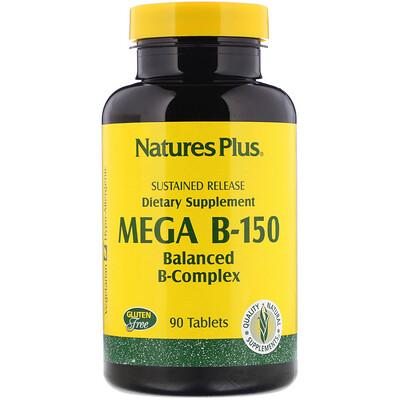 Mega B-150, сбалансированный комплекс витаминов B, 90 таблеток