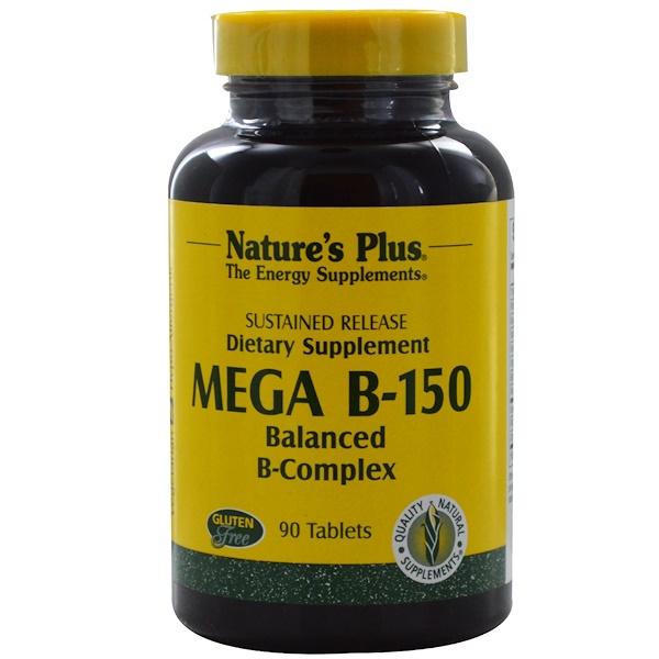 Nature's Plus, 巨型維生素B-150, 平衡的複合維生素B,90片