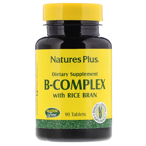 B-Complex with Rice Bran, 90 Tablets