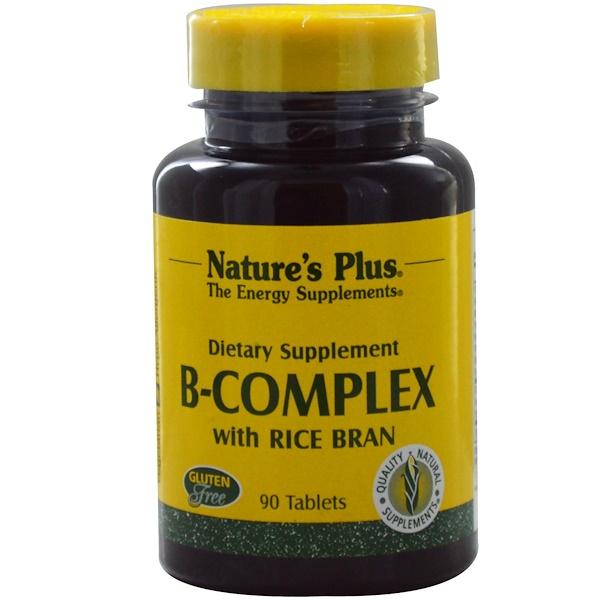 Nature's Plus, Complejo-B con salvado de arroz, 90 comprimidos