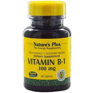 Nature's Plus, 비타민 B-1, 300 mg, 90 정