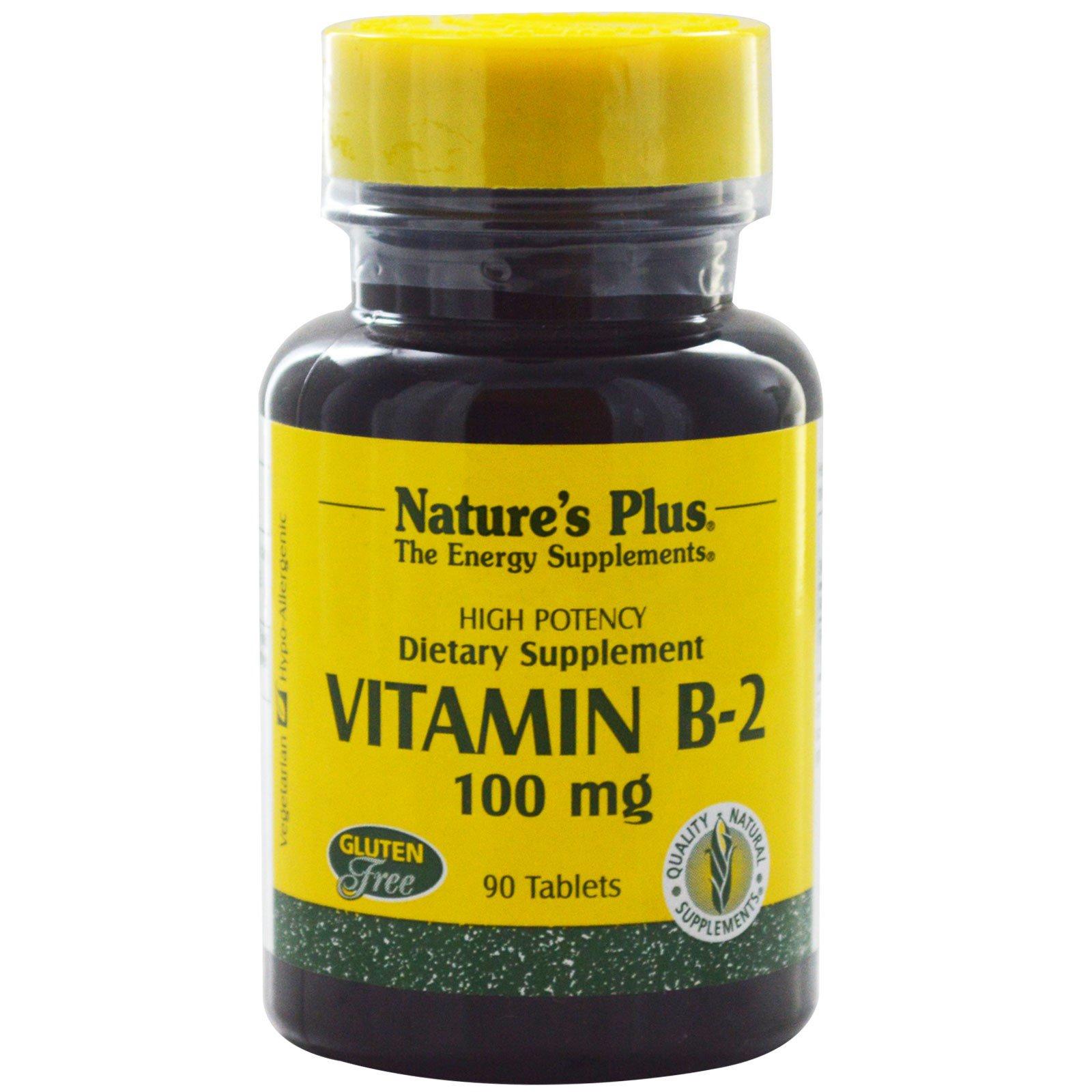 Nature's Plus, Витамин B-2, 100 мг, 90 таблеток