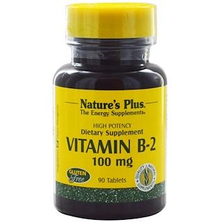 Nature's Plus, Vitamin B-2, 100 mg, 90 Tablets