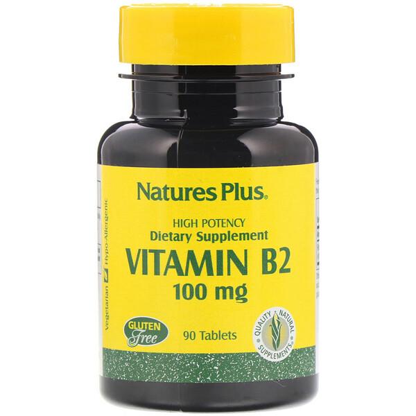 Nature's Plus, فيتامين ب-2، 300 ملغم، 90 قرص