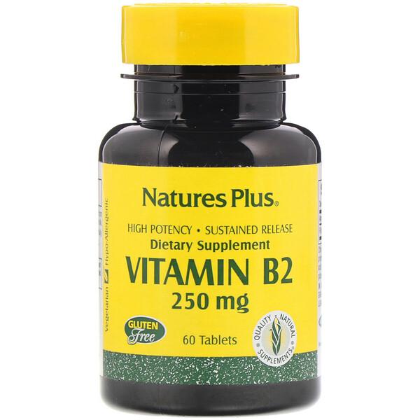 Vitamin B-2, 250 mg, 60 Tablets