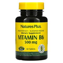 Nature's Plus, 維生素 B6,500 毫克,60 片