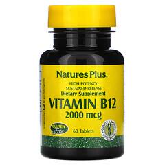 Nature's Plus, 維生素 B-12,2,000 毫克,60 片