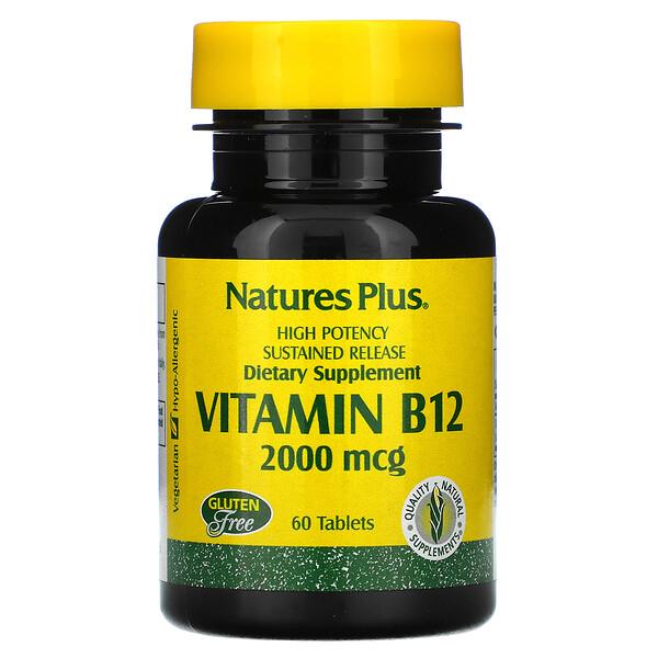 Vitamin B-12, 2000 mcg, 60 Tablets