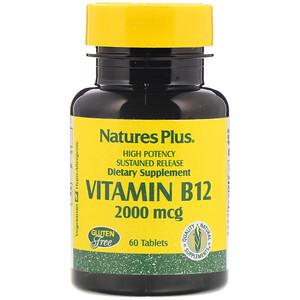 Натурес Плюс, Vitamin B-12, 2000 mcg, 60 Tablets отзывы