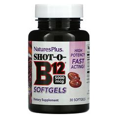 Nature's Plus, Shot-O-B12, 5,000 mcg, 30 Softgels