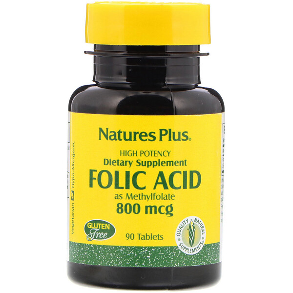 Folic Acid, 800 mcg, 90 Tablets