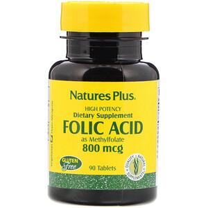 Натурес Плюс, Folic Acid, 800 mcg, 90 Tablets отзывы
