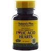 Nature's Plus, Folic Acid Hearts, 400 mcg, 90 Tablets