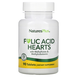 Nature's Plus, Folic Acid Hearts, 90 Tablets