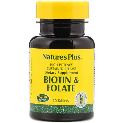 Купить Биотин и фолиевая кислота, 30таблеток