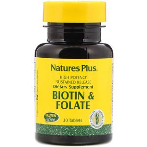 Натурес Плюс, Biotin & Folate, 30 Tablets отзывы покупателей