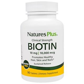 Nature's Plus, Биотин, с замедленным высвобождением, 90 таблеток