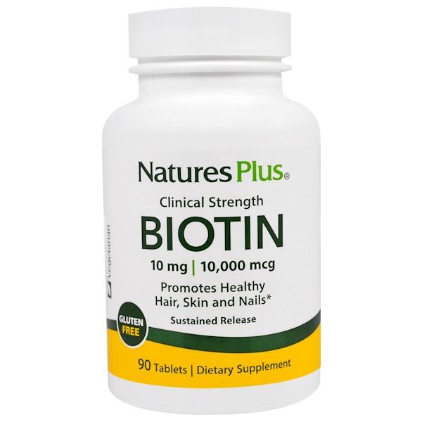 Nature's Plus, ビオチン、徐放剤、90錠