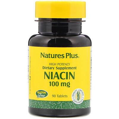 Nature's Plus Ниацин, 100 мг, 90 таблеток  - Купить