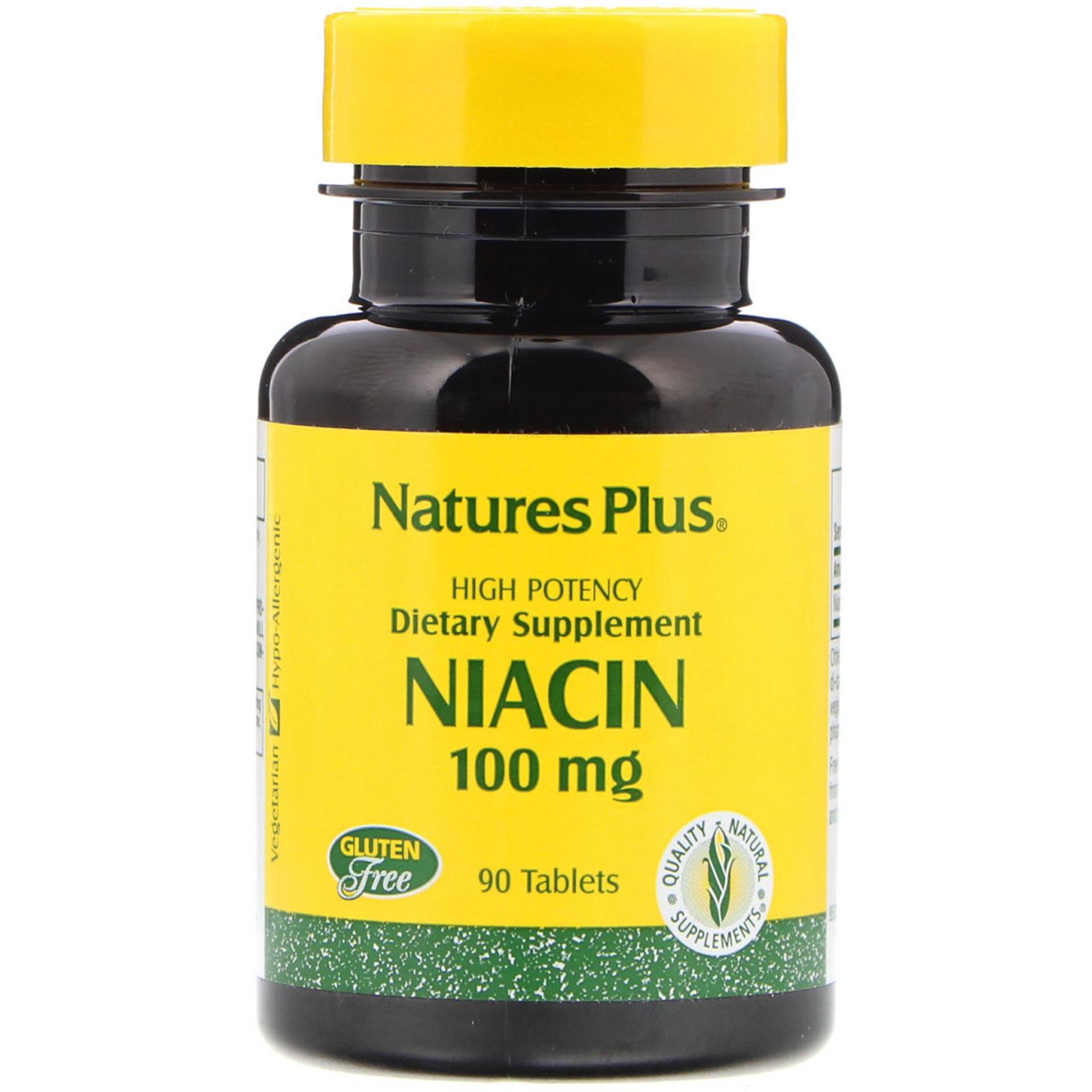 Nature's Plus, Niacin, 100 mg, 90 Tablets - iHerb com