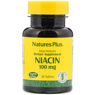 Nature's Plus, Niacin, 100 mg, 90 Tablets