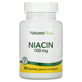 Nature's Plus, ниацин, 100мг, 90таблеток