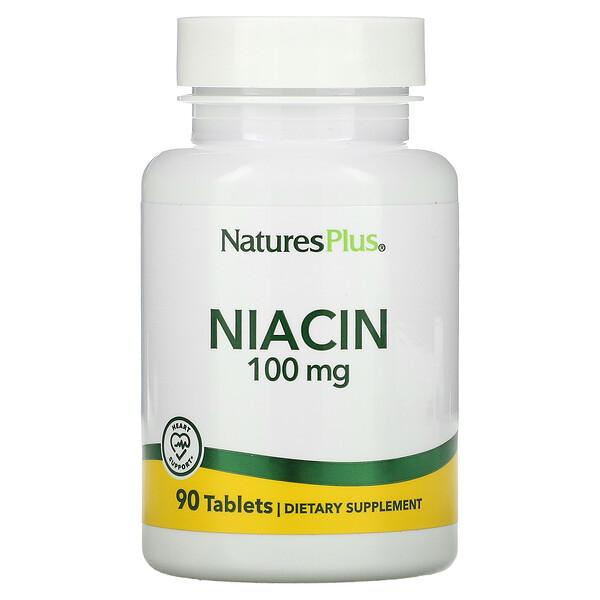 Niacin, 100 mg, 90 Tabletas
