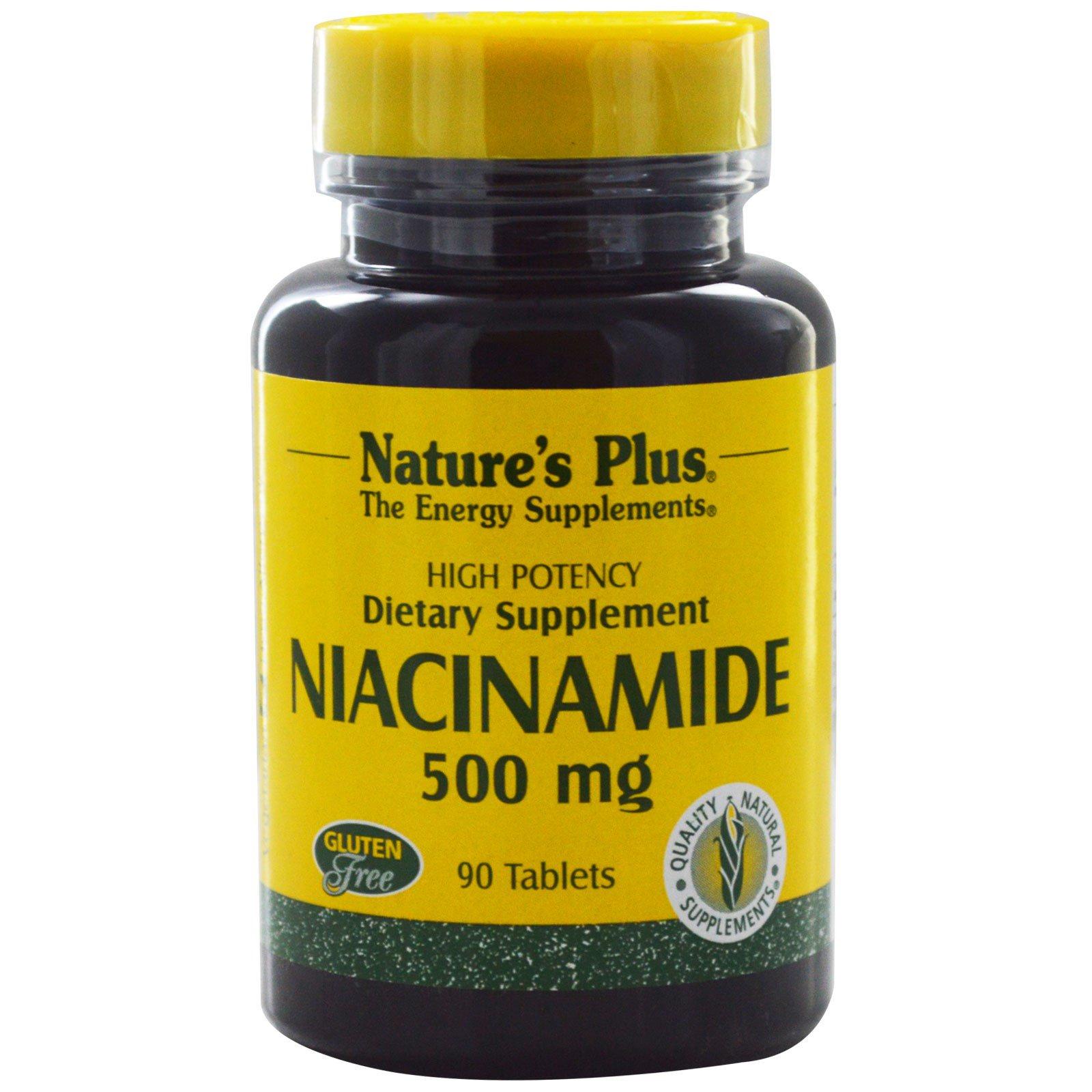 Nature's Plus, Ниацинамид, 500 мг, 90 таблеток