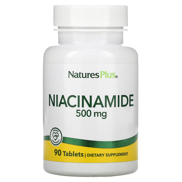 Niacinamida, 500 mg, 90 comprimidos