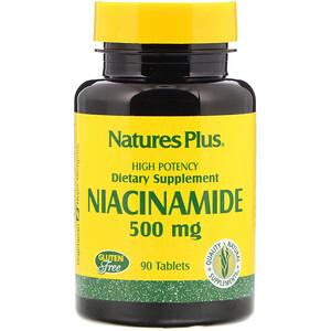 Натурес Плюс, Niacinamide, 500 mg, 90 Tablets отзывы покупателей