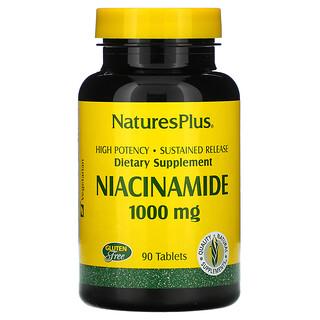 Nature's Plus, никотинамид, 1000мг, 90таблеток