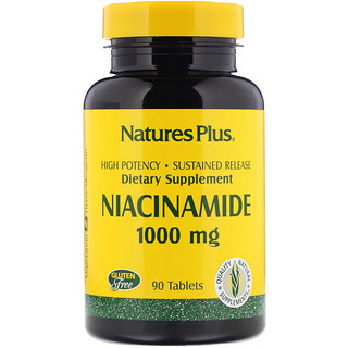Nature's Plus, Niacinamide, 1000 mg, 90 Tablets