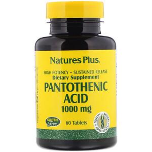 Натурес Плюс, Pantothenic Acid, 1000 mg, 60 Tablets отзывы покупателей