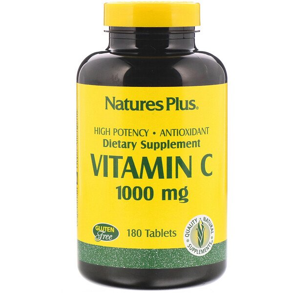 Nature's Plus, Vitamina C, 1000 mg, 180 tabletas