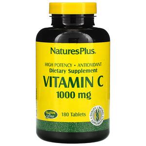 Натурес Плюс, Vitamin C, 1000 mg, 180 Tablets отзывы покупателей