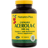Nature's Plus, Chewable Acerola-C, Vitamin C with Bioflavonoids, 500 mg, 90 Tablets