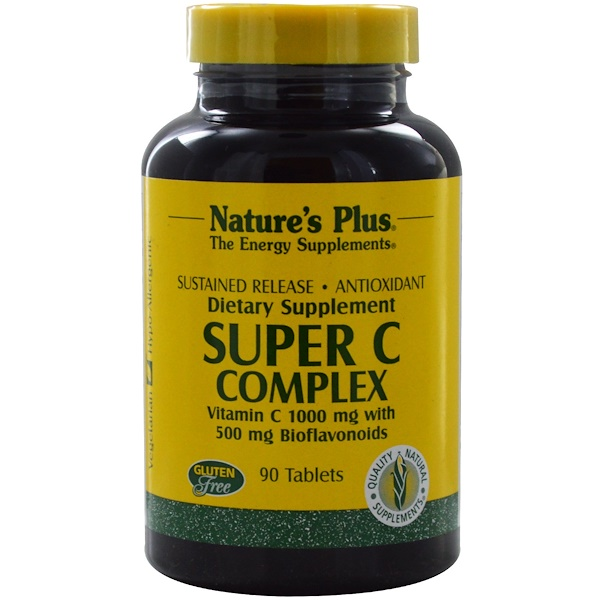 Nature's Plus, Super C Complex, Sustained Release, 90 Tablets (Discontinued Item)