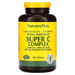 Nature's Plus, مركب فيتامين جـ فائق، 180 قرص