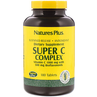 Nature's Plus, Super C Complex, Vitamin C 1000 mg with 500 mg Bioflavonoids, 180 Tablets
