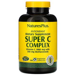 Nature's Plus, Super C Complex, 180 Cápsulas Vegetales