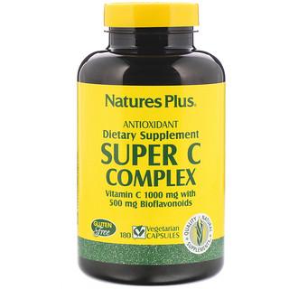 Nature's Plus, スーパー Cコンプレックス、 180ベジキャップ