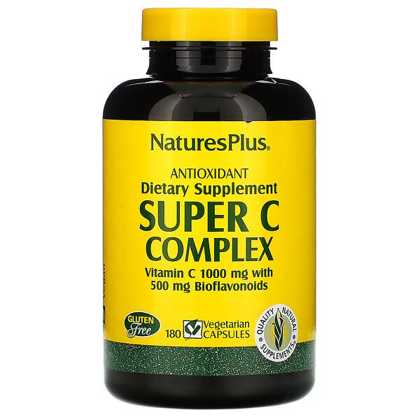 Super C Complex, 180 Cápsulas Vegetales