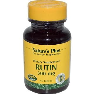Nature's Plus, Rutin, 500 mg, 60 Tablets