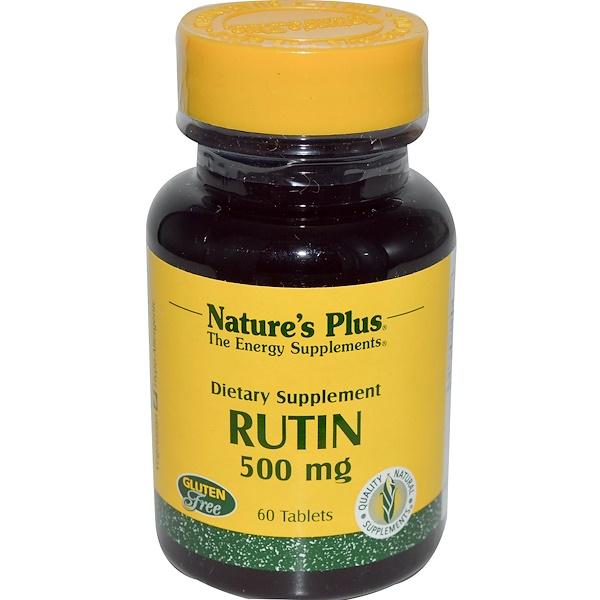 Nature's Plus, Рутин, 500 мг, 60 таблеток