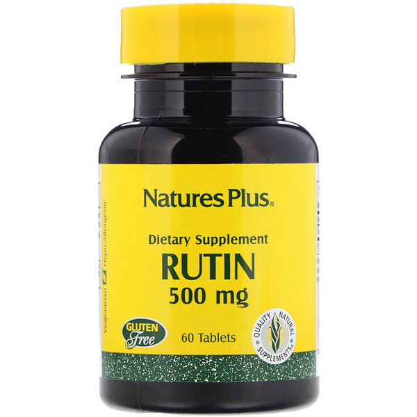 Nature's Plus, Rutin, 500 mg, 60 Tablets