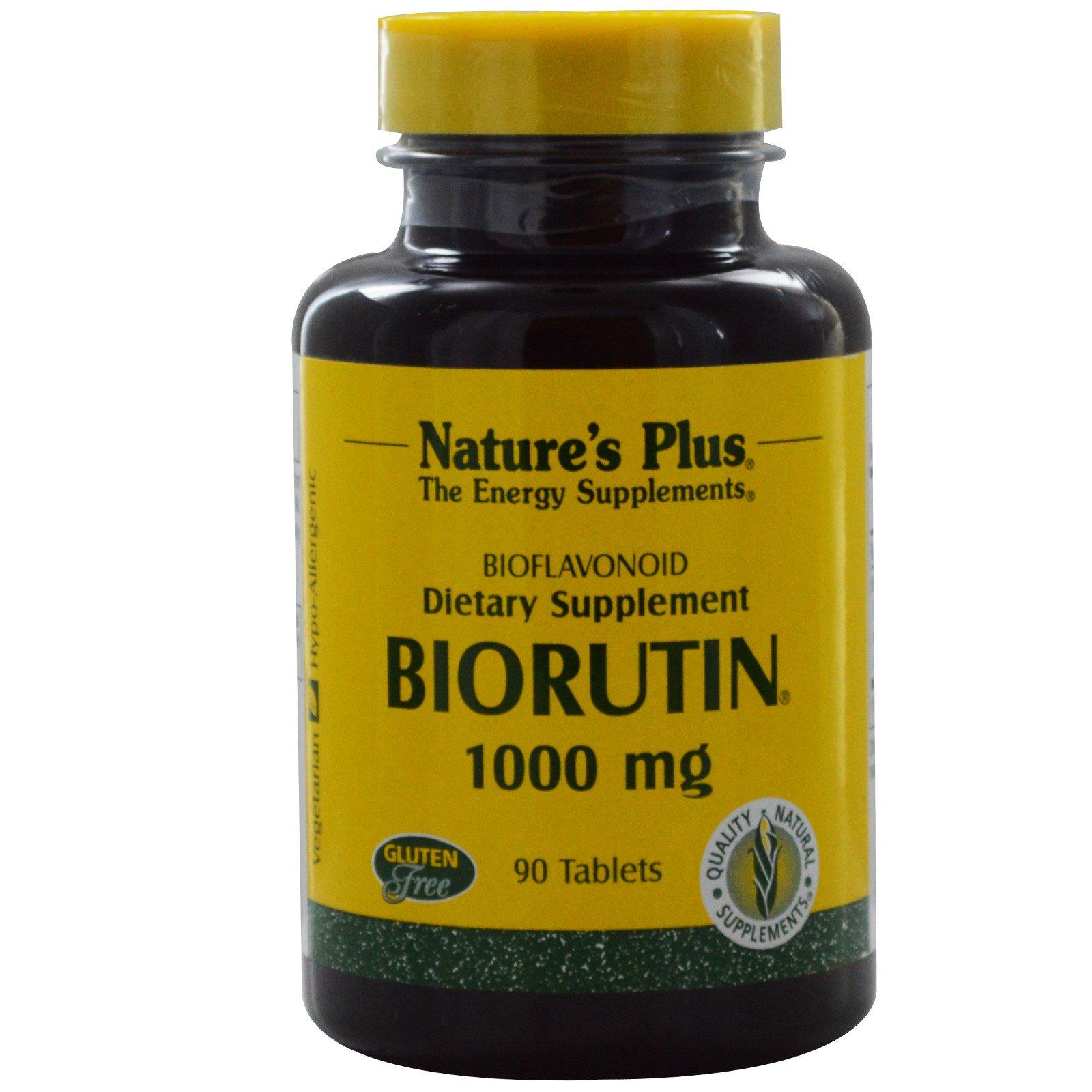 Nature's Plus, Biorutin, 1000 мг, 90 таблеток